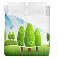 Landscape Nature Background Duvet Cover (queen Size) by Nexatart