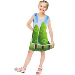 Landscape Nature Background Kids  Tunic Dress