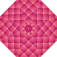 Pink Background Geometric Design Straight Umbrellas