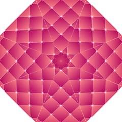 Pink Background Geometric Design Hook Handle Umbrellas (medium)