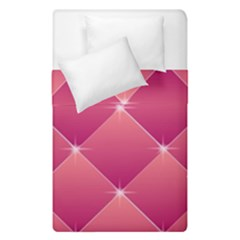 Pink Background Geometric Design Duvet Cover Double Side (single Size) by Nexatart