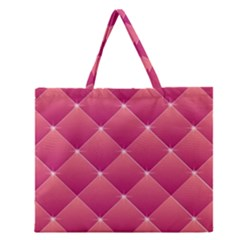 Pink Background Geometric Design Zipper Large Tote Bag by Nexatart