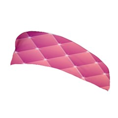 Pink Background Geometric Design Stretchable Headband