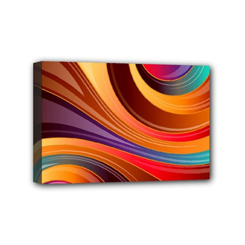 Abstract Colorful Background Wavy Mini Canvas 6  X 4