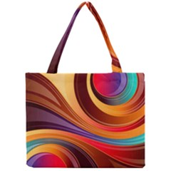 Abstract Colorful Background Wavy Mini Tote Bag