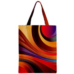 Abstract Colorful Background Wavy Zipper Classic Tote Bag