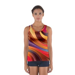 Abstract Colorful Background Wavy Sport Tank Top