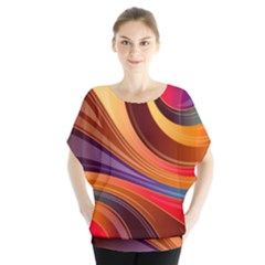 Abstract Colorful Background Wavy Blouse