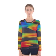 Colorful Background Women s Long Sleeve Tee
