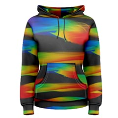Colorful Background Women s Pullover Hoodie