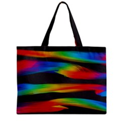 Colorful Background Zipper Mini Tote Bag