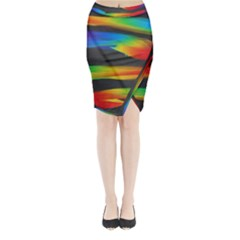 Colorful Background Midi Wrap Pencil Skirt