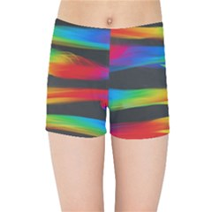 Colorful Background Kids Sports Shorts