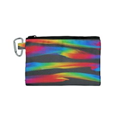 Colorful Background Canvas Cosmetic Bag (small)