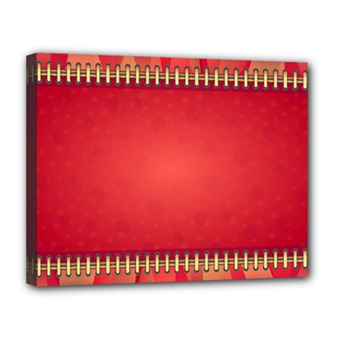 Background Red Abstract Canvas 14  X 11