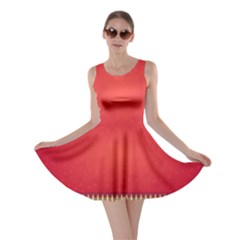 Background Red Abstract Skater Dress