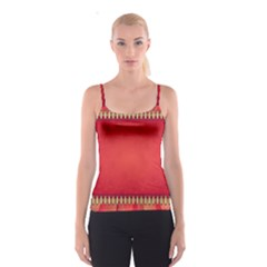 Background Red Abstract Spaghetti Strap Top