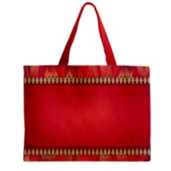 Background Red Abstract Zipper Mini Tote Bag