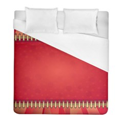 Background Red Abstract Duvet Cover (full/ Double Size)