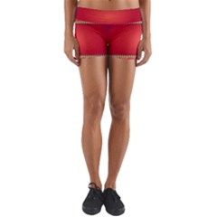 Background Red Abstract Yoga Shorts