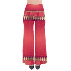 Background Red Abstract Pants