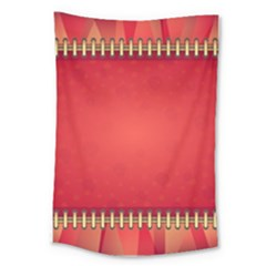 Background Red Abstract Large Tapestry