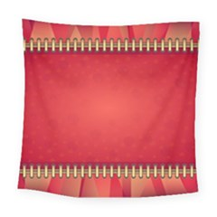 Background Red Abstract Square Tapestry (large)