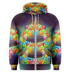 Badge Abstract Abstract Design Men s Zipper Hoodie