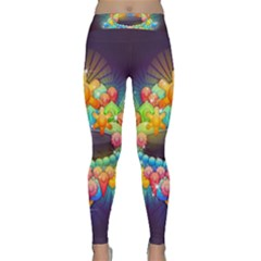Badge Abstract Abstract Design Classic Yoga Leggings