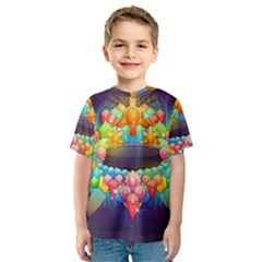 Badge Abstract Abstract Design Kids  Sport Mesh Tee