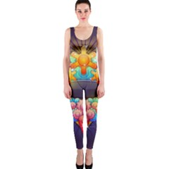 Badge Abstract Abstract Design Onepiece Catsuit