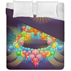Badge Abstract Abstract Design Duvet Cover Double Side (california King Size)