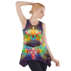 Badge Abstract Abstract Design Side Drop Tank Tunic