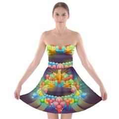 Badge Abstract Abstract Design Strapless Bra Top Dress