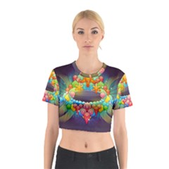 Badge Abstract Abstract Design Cotton Crop Top
