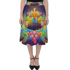 Badge Abstract Abstract Design Folding Skater Skirt
