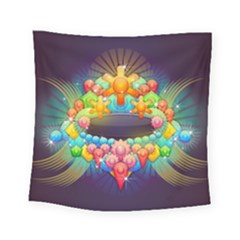 Badge Abstract Abstract Design Square Tapestry (small)