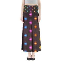 Lanterns Background Lamps Light Full Length Maxi Skirt