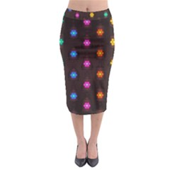 Lanterns Background Lamps Light Midi Pencil Skirt