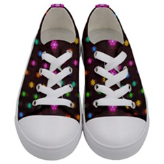 Lanterns Background Lamps Light Kids  Low Top Canvas Sneakers