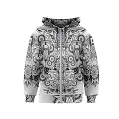 Forest Patrol Tribal Abstract Kids  Zipper Hoodie