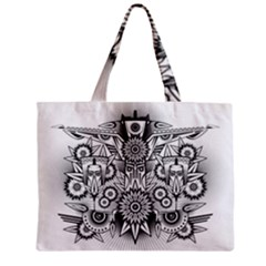 Forest Patrol Tribal Abstract Zipper Mini Tote Bag