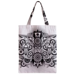 Forest Patrol Tribal Abstract Zipper Classic Tote Bag