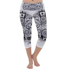 Forest Patrol Tribal Abstract Capri Yoga Leggings