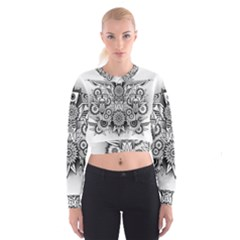 Forest Patrol Tribal Abstract Cropped Sweatshirt