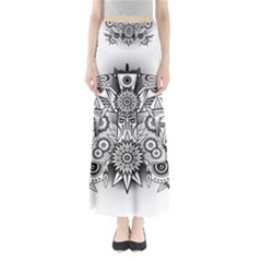 Forest Patrol Tribal Abstract Full Length Maxi Skirt