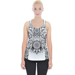 Forest Patrol Tribal Abstract Piece Up Tank Top