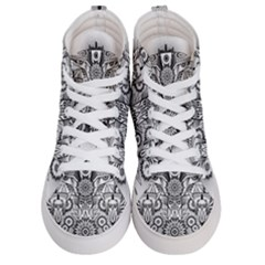 Forest Patrol Tribal Abstract Men s Hi Top Skate Sneakers