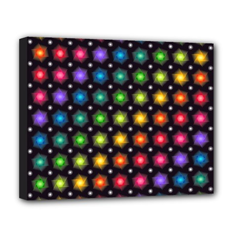 Background Colorful Geometric Deluxe Canvas 20  X 16   by Nexatart