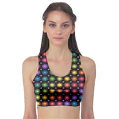 Background Colorful Geometric Sports Bra